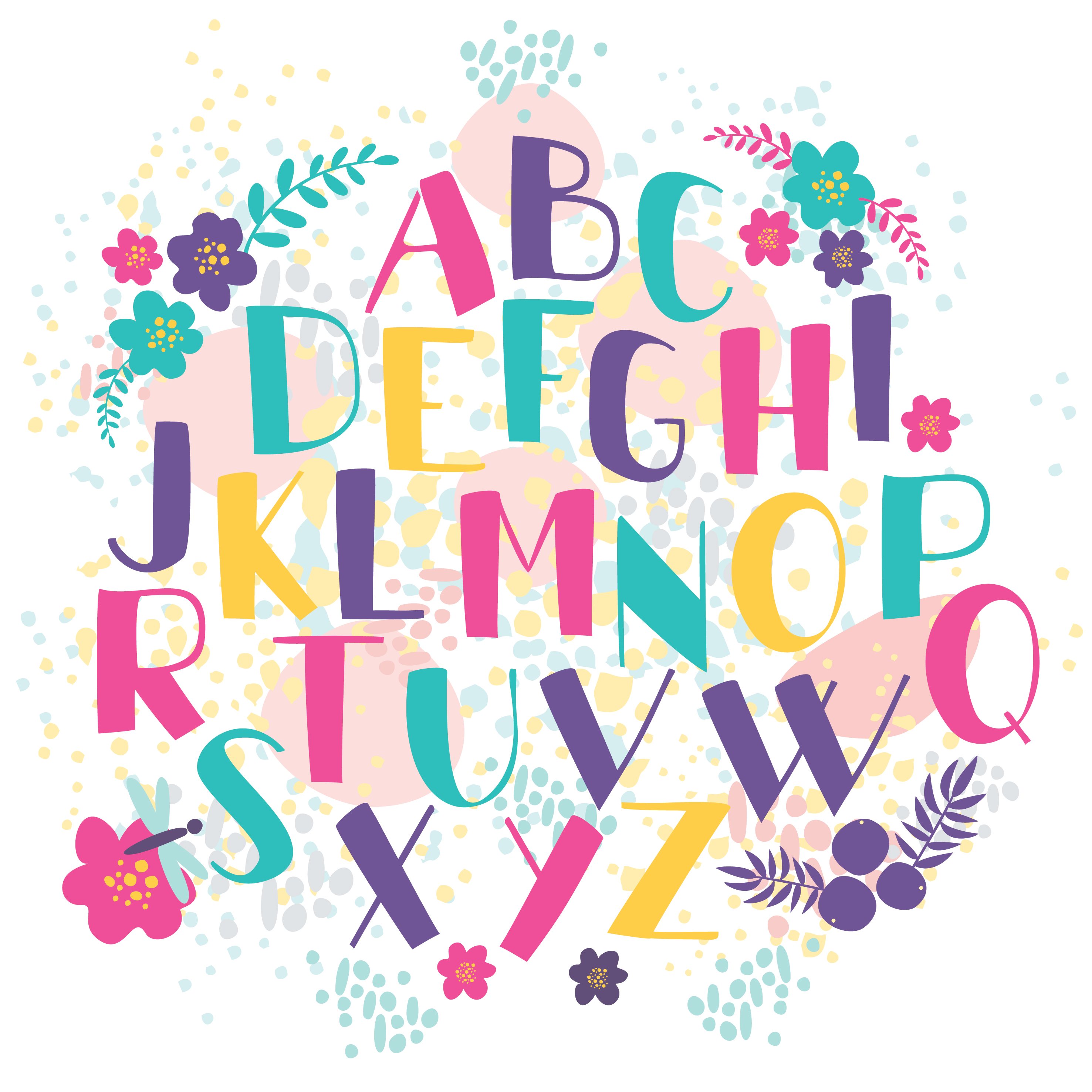 hand-drawn letters